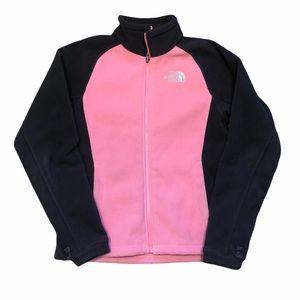 The North Face Grey&Pink Fleece Zip Up Jacket-SzXS